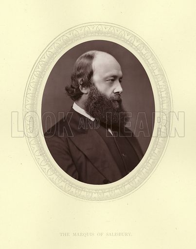 The Marquis of Salisbury (1830-1903). British statesman and Prime minister, Marquess of Salisbury, Lord Robert Cecil, Viscount Cranborne.