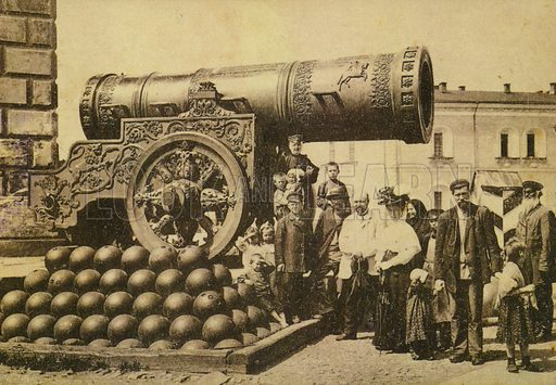 Tsar Cannon in the Kremlin, Moscow, Russia, early 20th Century.