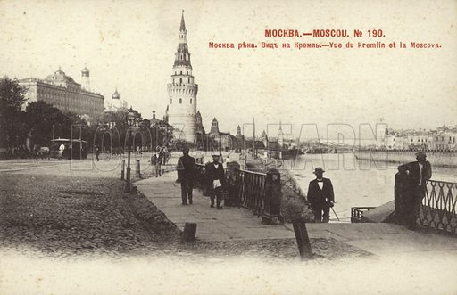 The Kremlin and the River Moskva, Russia, early 20th Century.