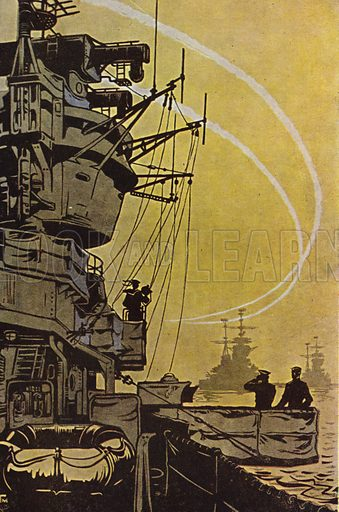 Soviet warships in line of battle formation, 1960.