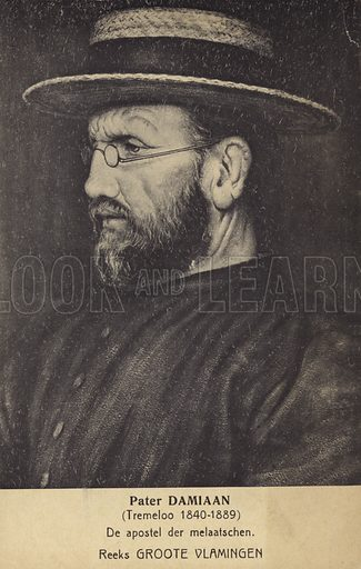 Father Damien, picture, image, illustration
