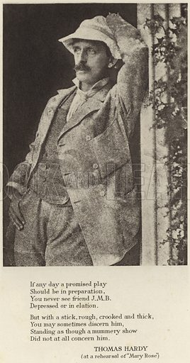 JM Barrie, Scottish author and dramatist.