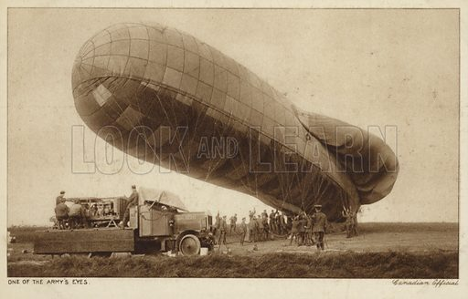 Observation balloon, World War I.