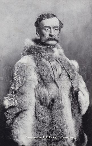 Robert Peary (1856-1920), American Arctic explorer. Claimed to be the first to reach the North Pole, on 6 April 1909.