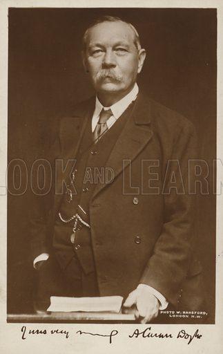 Sir Arthur Conan Doyle (1859-1930), Scottish author.