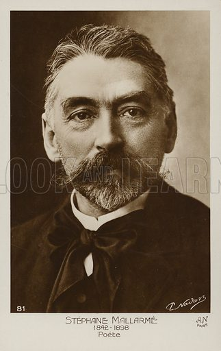 Stephane Mallarme (1842–1898), French poet.