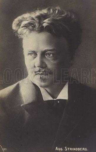 August Strindberg (1849–1912), Swedish playwright, novelist, poet and artist.