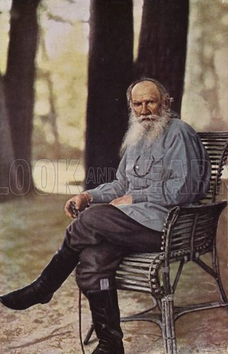 Leo Tolstoy (1828–1910), Russian novelist, short story writer and playwright. Photographed at his Yasnaya Polyana estate, near Tula, Russia.