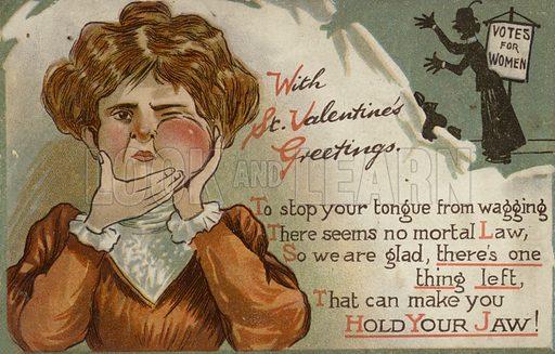Anti-Suffragette postcard