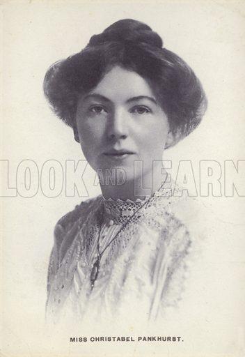 Christabel Pankhurst (1880-1958), English suffragette, c1908.