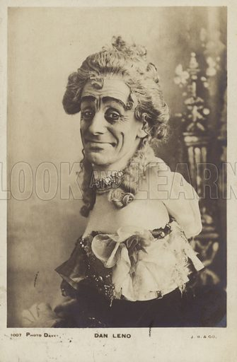 Dan Leno (1860-1904), English music hall comedian and musical theatre actor.