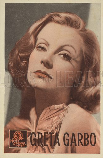 Greta Garbo (1905–1990), Swedish actress and film star.