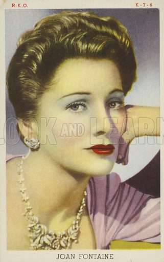 Joan Fontaine, British-American actress and film star.