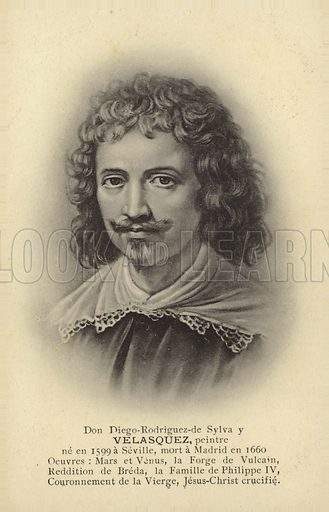 Diego Velasquez (1599–1660), Spanish painter.