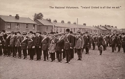 "The National Volunteers. ""Ireland United is all that we ask""."