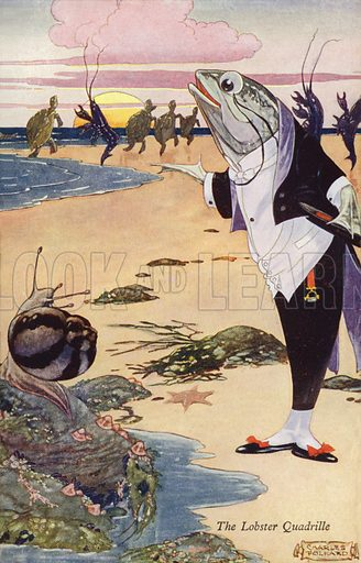 The Lobster Quadrille. Scene from Alice's Adventures in Wonderland by Lewis Carroll.