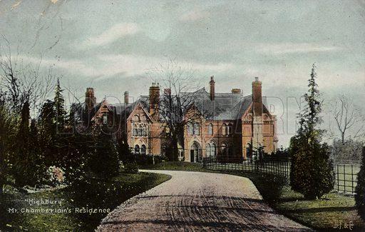 Highbury, residence of Joseph Chamberlain (1836–1914), British politician and statesman.