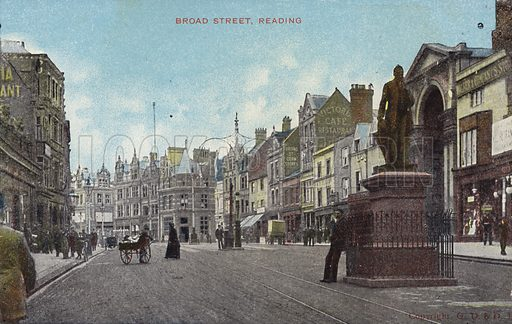 Broad Street, Reading. The main thoroughfare in Reading with historical importance in the Battle of Reading (1688), sometimes referred to as the Battle of Broad Street.