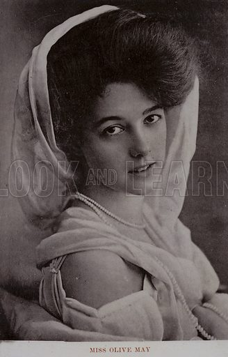 Miss Olive May (1886–1947). Olive May Meatyard, American-born actress, 1st marriage to Marquis of Anglesey then married 10th Earl of Drogheda.