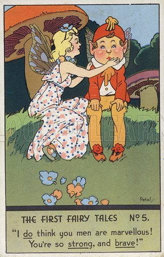 The First Fairytales Number 5. Vintage comic postcard.