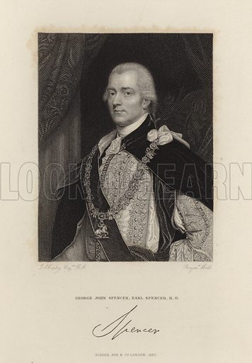 George Spencer, 2nd Earl Spencer (1758–1834). British Whig politician, served as Home Secretary.