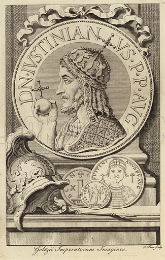 Justinian I the Great (c 482- 565).East Roman Emperor.