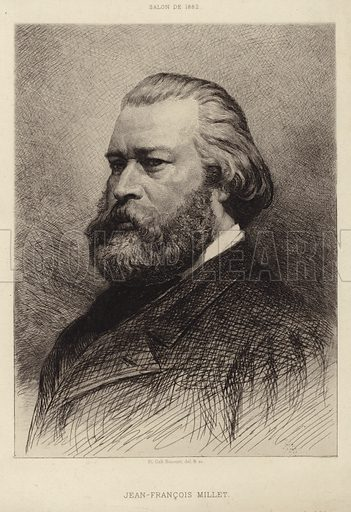 Jean Francois Millet (1814–1875). French painter and one of the founders of the Barbizon school.