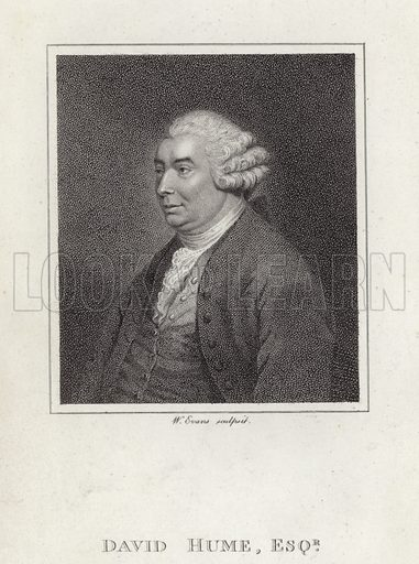 David Hume (1711–1776). Scottish philosopher and historian, known as the 'Greatest of British Empericists.'.