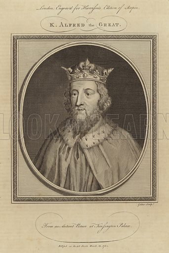 King Alfred the Great (871–899). He became king of the southern Anglo-Saxon kingdom of Wessex in 871.