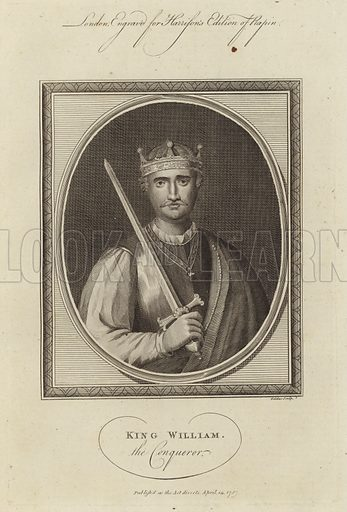 King William the Conqueror (1028–1087). The first Norman King of England, reigning from 1066 until his death.