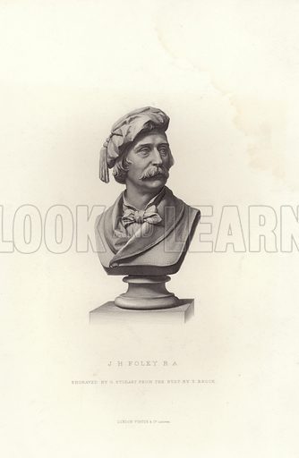 JH Foley. Royal Academician. Engraved by G Stodart from the bust by T Brock.