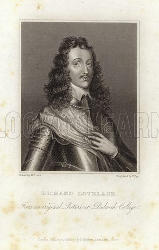 Richard Lovelace. From an original picture at Dulwich College. Published 1 January 1824.