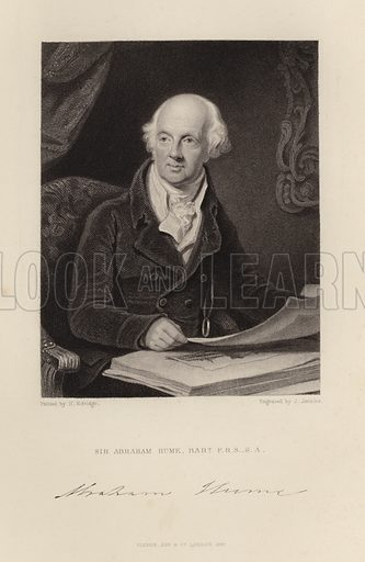 Sir Abraham Hume. British floriculturist and Tory politician. Published in 1847.