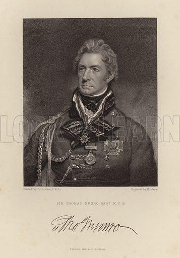 Sir Thomas Munro. Scottish soldier and colonial administrator.