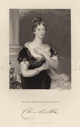 Her Royal Highness The Princess Charlotte. Published in 1847.