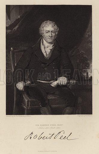Sir Robert Peel. Prime Minister.