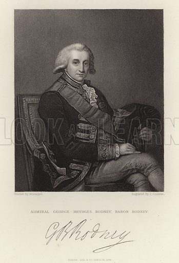 Admiral George Brydges Rodney. Baron Rodney. Published in 1846.