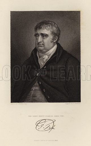 The Right Honourable Charles James Fox. Published in 1846.