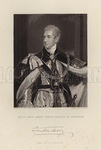 Marquess of Londonderry. Robert Stewart. Published in 1847.