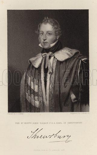 John Talbot. Earl of Shrewsbury. Published in 1847.