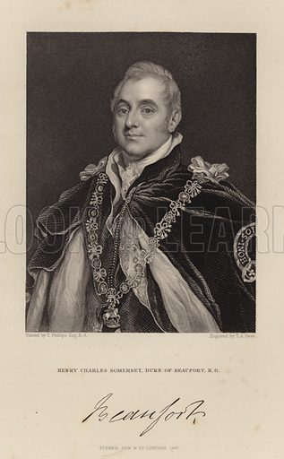 Duke of Beaufort. Henry Charles Somerset. Published in 1847.
