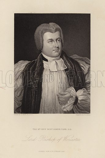Lord Bishop of Worcester. Robert James Carr. Published in 1847.