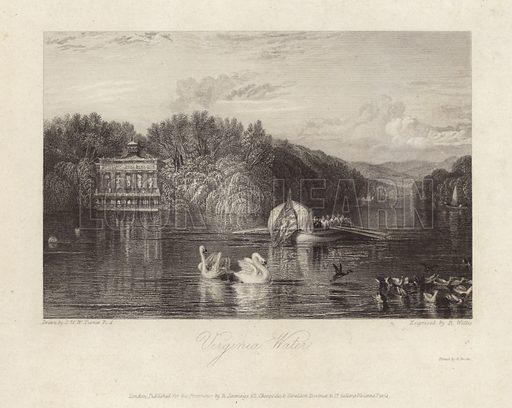 Virginia Water. Engraved by R Wallis.