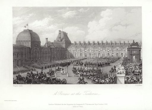 A Review at the Tuileries. Published 1 October 1842.