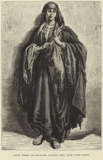 Gypsy woman or ghawzee (dancing girl) from Upper Egypt.