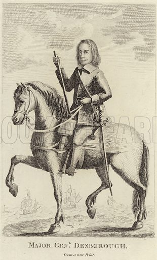 John Desborough, English soldier and politician who supported the parliamentary cause during the English Civil War. From a rare print.