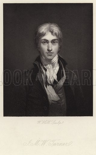 Joseph Mallord William Turner, British landscape painter, water-colourist and printmaker, popularly known as JMW Turner. After a self-portrait, engraved by W Holl.