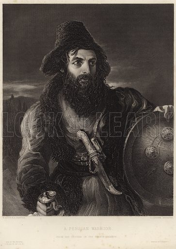 A Persian Warrior, from the picture in the Vernon Gallery. After William Etty, engraved by Charles Cousen. Printed by H Wilkinson.