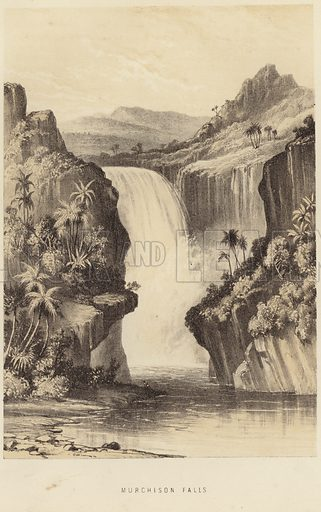 Murchison Falls. Published in a book on David Livingstone, circa 1875.