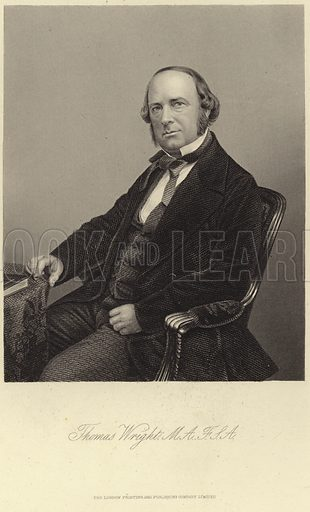 Thomas Wright, English antiquarian and writer. Published by the London Printing and Company Limited.